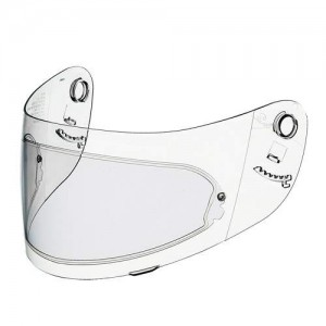 Pinlock insert for crash helmets visor