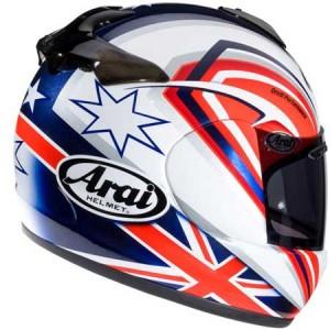 arai Vector 2 helmet rear view