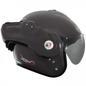 roof desmo black crash helmet