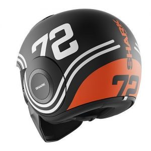 shark-drak-72-mat-black-orange-crash-helmet-rear-view