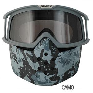 shark-drak-goggles and mask camo