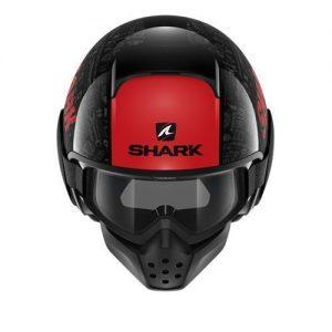 shark-drak-tribute-rm-black-red-crash-helmet-top-view