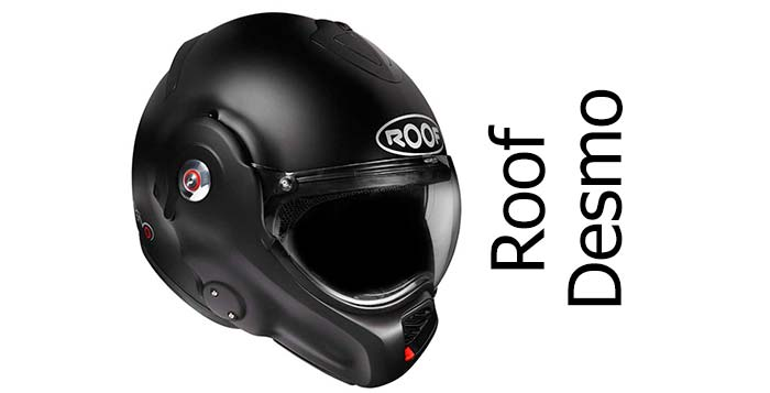 Roof desmo crash helmet