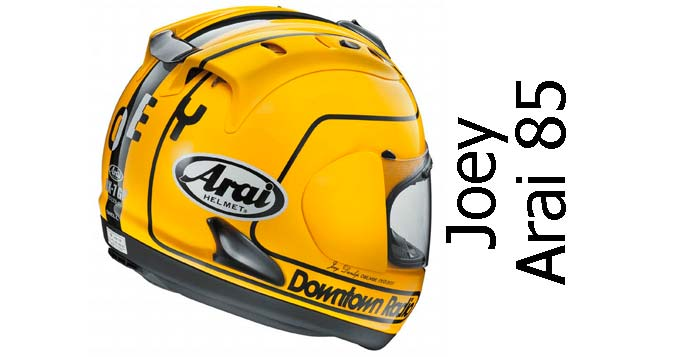 Arai Joey Dunlop 85 limited edition crash helmet