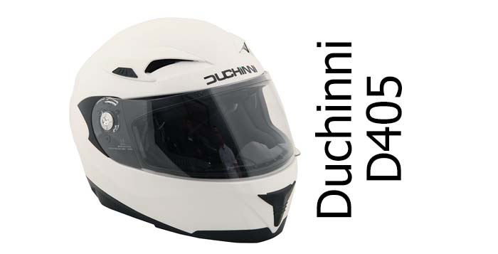 Duchinni D405 full face helmet white