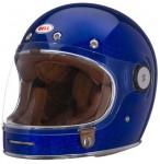 bell bullet crash helmet in blue flake