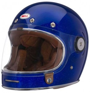 bell bullet crash helmet in blue flake