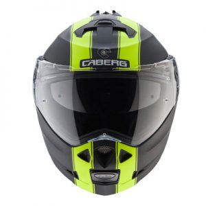 caberg-duke-2-modular-motorcycle-helmet-in-Legend-black-fluo-yellow-front-view