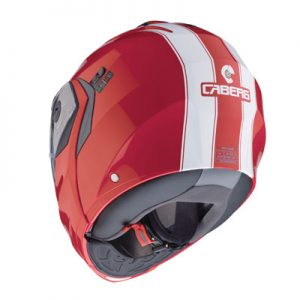 caberg-duke-2-modular-motorcycle-helmet-in-Legend-red-white-rear-view