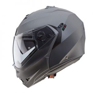 caberg-duke-2-modular-motorcycle-helmet-in-matt-gun-metal-side-view