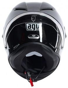 AGV Corsa crash helmet gloss black rear view