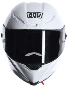 AGV Corsa crash helmet white front view