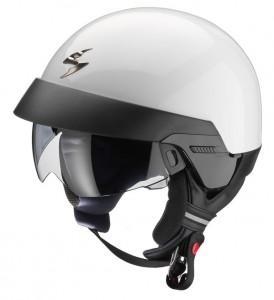 Scorpion-Exo-100-open-face-crash-helmet-gloss-white