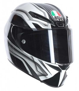 AGV-GT-Veloce-TXT-black-white-crash-helmet