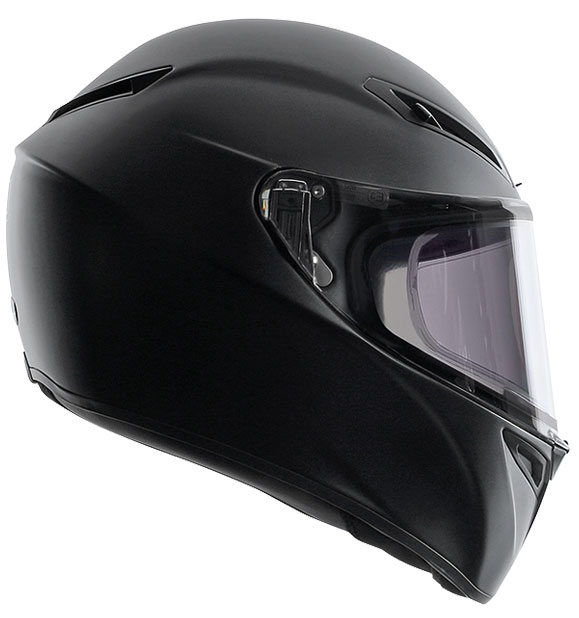 AGV-GT-Veloce-matt-black-side-view-crash-helmet