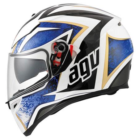 Agv K3 Sv Motorcycle Crash Helmet Vulcan White Blue Billys Crash Helmets
