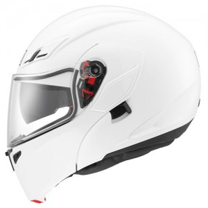 Pure gloss white version showing sun visor switch