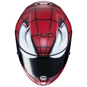 hjc-rpha11-pro-spiderman-front-top-view