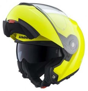 Schuberth-C3-Pro-crash-helmet-fluo-yellow-open