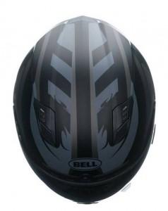 Bell-Qualifier-DLX-crash-helmet-impulse-black-top-view