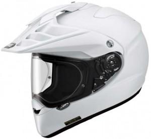 Shoei Hornet-X2 ADV solid white crash helmet