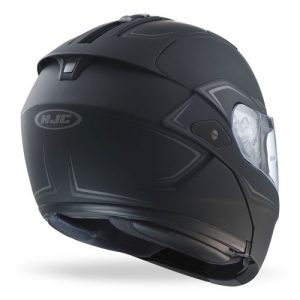 HJC-Sy-Max-III-modular-crash-helmet-shadow-matt-black-rear-view