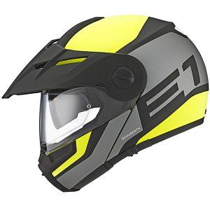 Schuberth-E1-modular-helmet-in-guardian-yellow-side-view