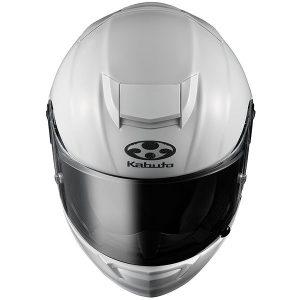 kabuto-RT-33-crash-helmet-pear-white-top-down