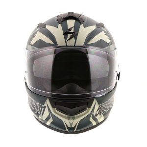 scorpion exo t510 Cipher green motorcycle helmet front view