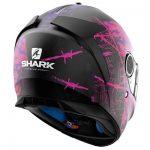 Shark Spartan Rughed motorcycle helmet rearview