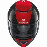 Shark Spartan carbon skin DRR motorcycle helmet front view