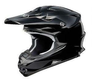 Shoei vfx-w motocross crash helmet side view gloss black
