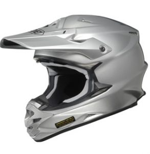 Shoei vfx-w motocross crash helmet silver