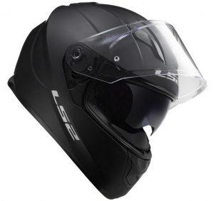 LS2-FF320 Stream-plain matt black Motorcycle-Helmet side view