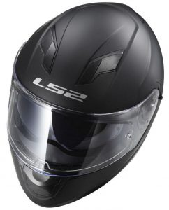 LS2-FF320 Stream-plain matt black Motorcycle-Helmet top view