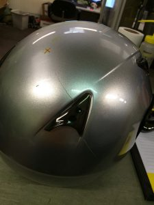 Helmet-crack-caused-by-side-testing-impact