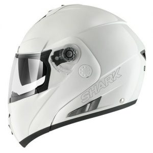 Shark openline prime white motorcycle crash helmet side view