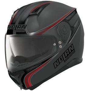 nolan-n87-Rapid-N-com-lava-grey-red-crash-helmet-side-view