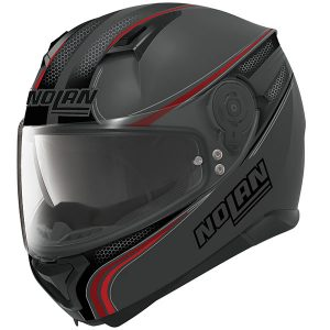 nolan-n87-Rapid-N-com-lava-grey-red-crash-helmet-side-view