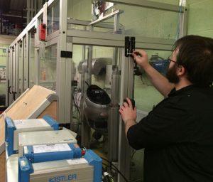 setting-up-the-oblique-helmet-test-at-the-SHARP-helmet-testing-labs