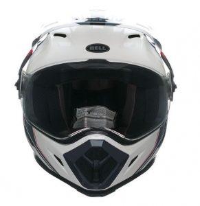 bell mx9 adventure barricade motorcycle crash helmet front view