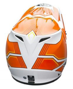 bell mx9 blockade orange motocross motorcycle crash helmet rear view