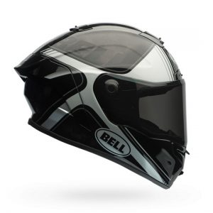 bell-pro-star-crash-helmet-tracer-black-silver-side-view