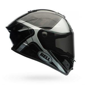 bell-pro-star-crash-helmet-tracer-black-silver-side-view