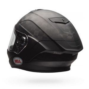 bell-pro-star-solid-matte-black-rear-view