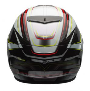 bell-race-star-crash-helmet-triton-black-silver-rear-view