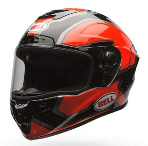 bell-star-crash-helmet-pace-orange-black-front-side-vew