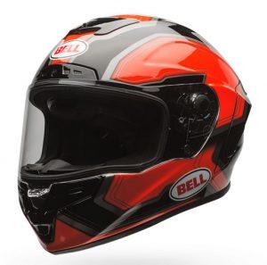 bell-star-crash-helmet-pace-orange-black-front-side-vew
