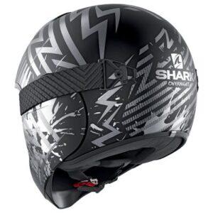 shark vancore 2 helmet overnight black slilver rear view