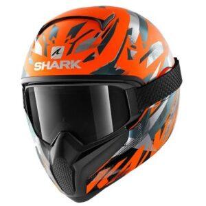 shark vancore 2 kanhji orange helmet front view